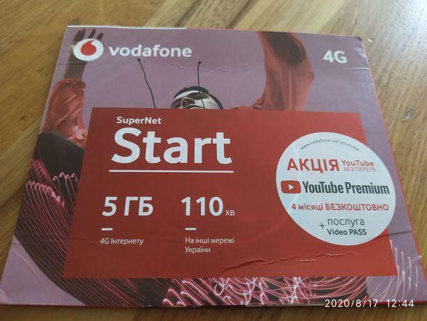 Красивый запоминающийся номер Vodafone