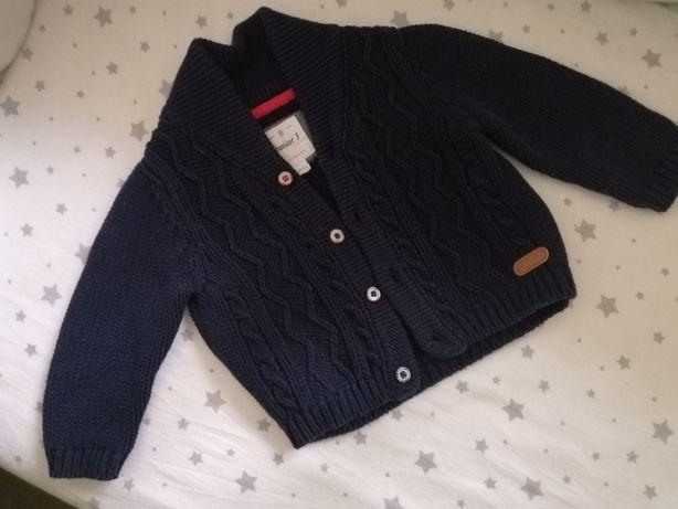 Кардиган, свитер вязаный с косами 3-6 месяцев, 62-68 размер