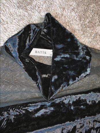 Платье чёрное  велюровое