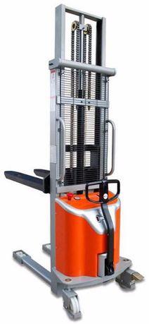 Stacker empilhador monta-cargas semi-eléctrico eleva 1000kg a 1,60mt