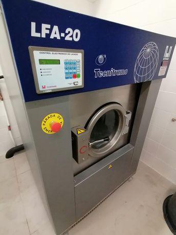 Máquina de lavar roupa industrial 20kg lares e hospitais
