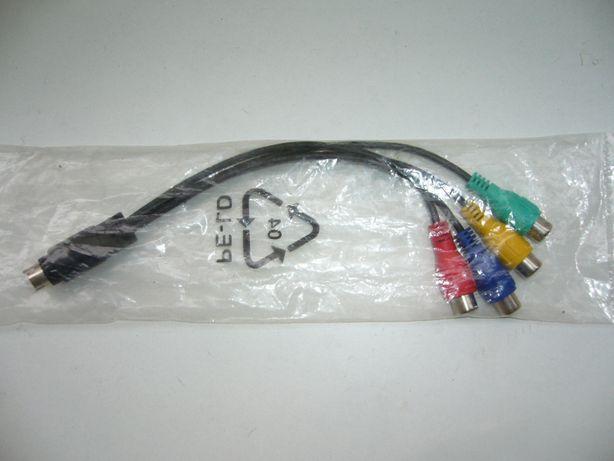 Przejściówka adapter s-video na 4xRCA
