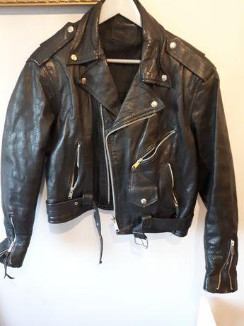 Ramoneska kurtka skórzana motocyklowa l