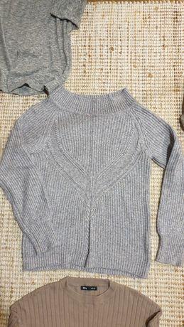 Sweter damski xs szary