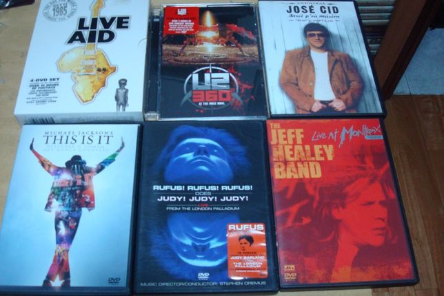lote 3 dvds musicais ,,kanye west late orchestration ,