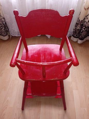 Krzesełko dziecięce, stolik do karmienia PRL