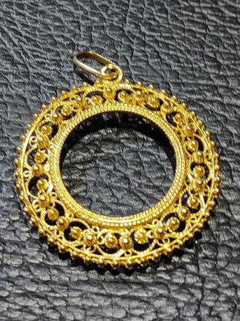Medalha para libra em ouro de 19,2kt