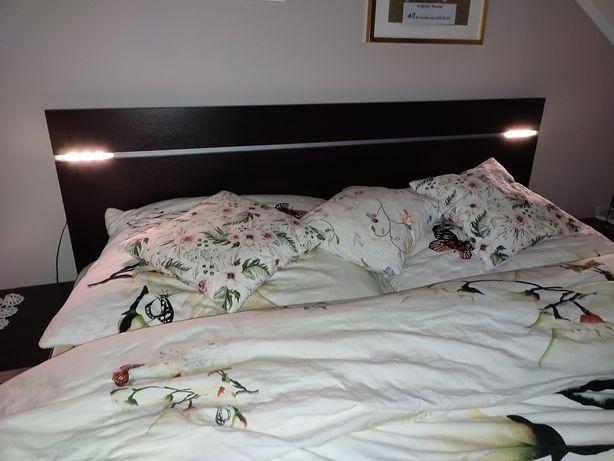 Łóżko do sypialni + materac ze stelażem + dwie szafki nocne