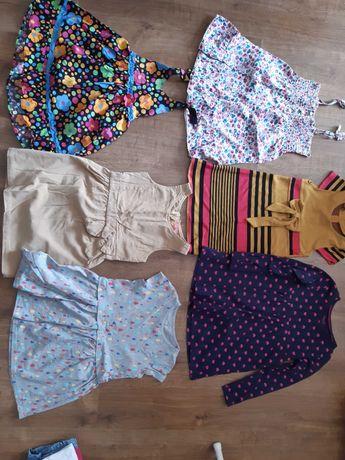 Śliczne sukienki dla dziewczynki w rozm. 110-116, 6 sztuk