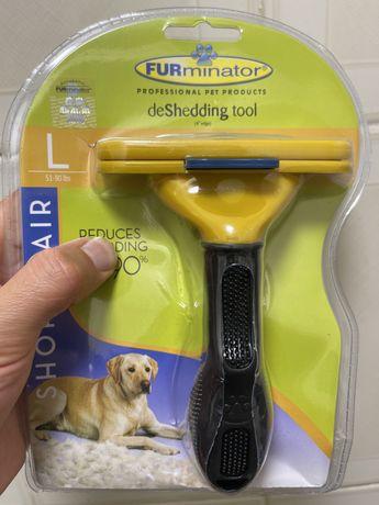 Escova, labrador, Furminator L. Pêlo curto. Original varios tamanhos