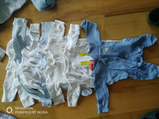 Ubranka dla niemowlaka rozmiary 50-68, ubranka dla wcześniaka