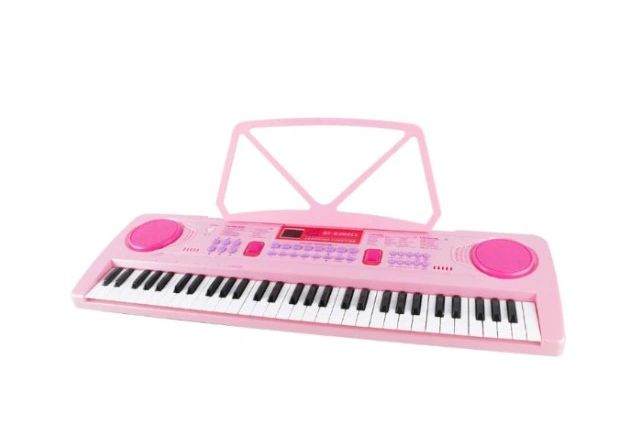 keyboard organki 61 klawiszy różowe princess