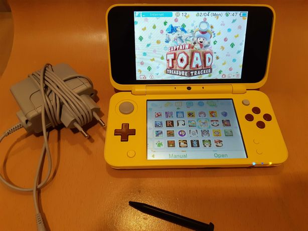 New Nintendo 2DS XL Pikachu/ Crack CFW Homebrew/ 32GB / 3ds