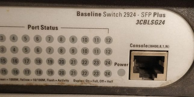 3COM Baselina switch 2924 SFP PLUS