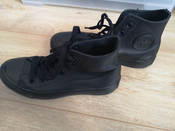 Skórzane Converse 35, wkładka 22 cm