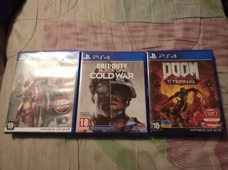 Продам Call Of Duty Black Ops: Cold War, DOOM Eternal и Assassin's