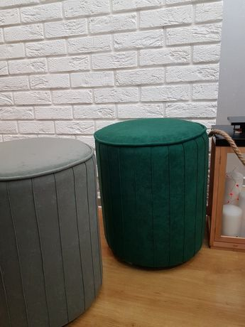 Nowa pufa butelkowa zieleń lub szara,piękna POLECAM