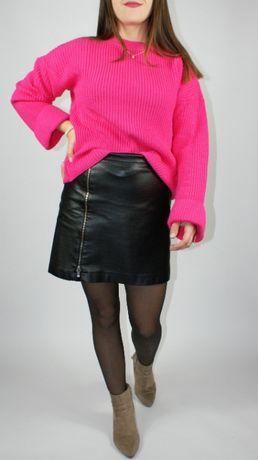 Sweter w angielski wzór, amarantowy V By Very - M/L