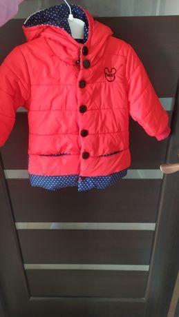 Курточка демисезонная утеплённая 74-80р