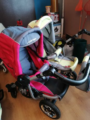 Wózek 2w1 Tako Jumper duo dla bliźniąt lub rok po roku