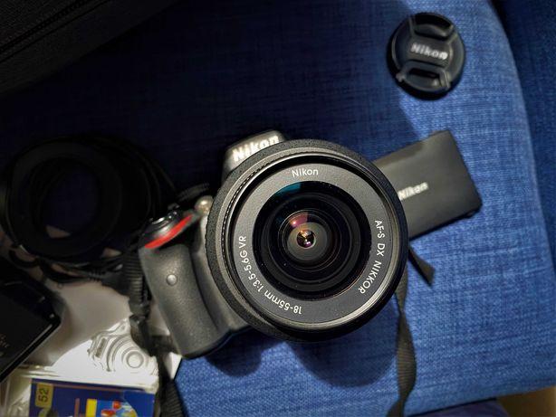 Nikon D5100+AF-P DX NIKKOR 18-55mm VR+filtr Hoya+osłona+torba