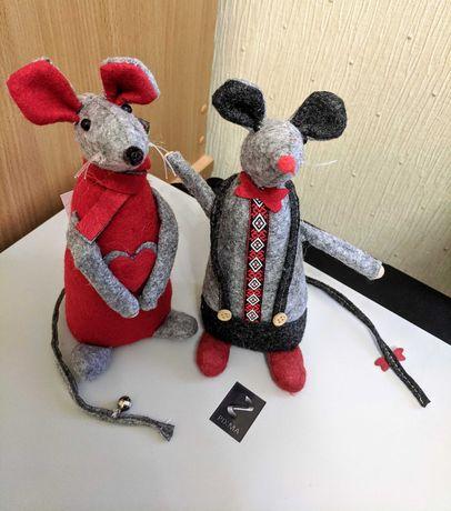 Статуэтки декоративные Мыши Мышь валяная шерсть