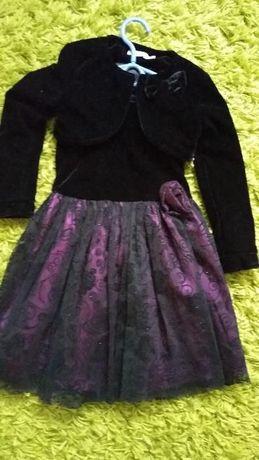 komplet elegancka sukienka bolerko Coolclub rozmiar 110