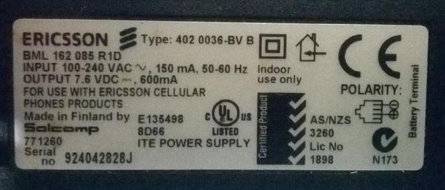 Carregador Ericsson BML 162 085 R1D