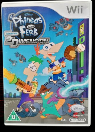 Phineas and Ferb Across the Second Dimension Wii (COMO NOVO)