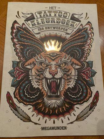 100 projektów tatuaży książka album projekty kolorowanie tatuaż