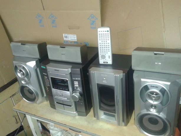 Wieża kino domowe SONY MHC-RV800D 6 głośników i pilot 3X CD PM3 DVD 5.