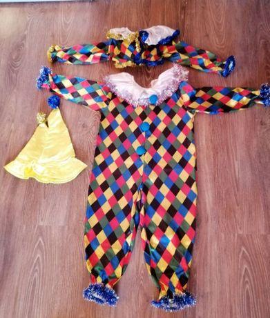 Продам детский костюм клоун Арлекин