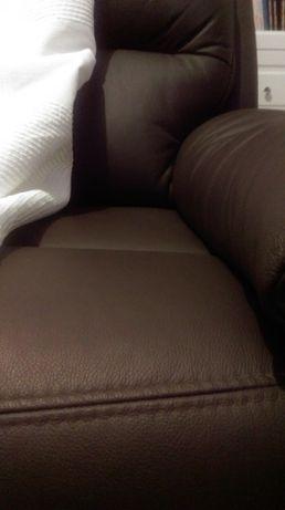 Twins Sofa 3RF ze skóry Meble Bydgoskie - 2 szt za 6 tyś zł okazja