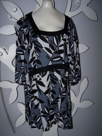 Bluzka- tunika - sukienka w szarościach H&M Mama dla puszystej. XXL
