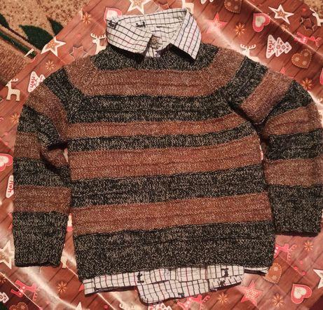 Рубашка + свитер