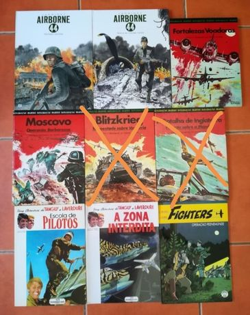 8 Livros Tanguy e Laverdure, Airborne, Grandes Batalhas e Fighters