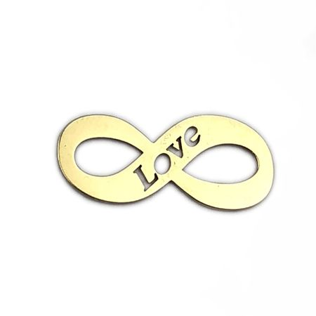 Złoty wisiorek 585 nieskończoność z napisem LOVE -20% rabatu !