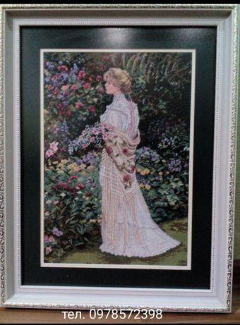 """Вышитая картина """"Её сад"""""""