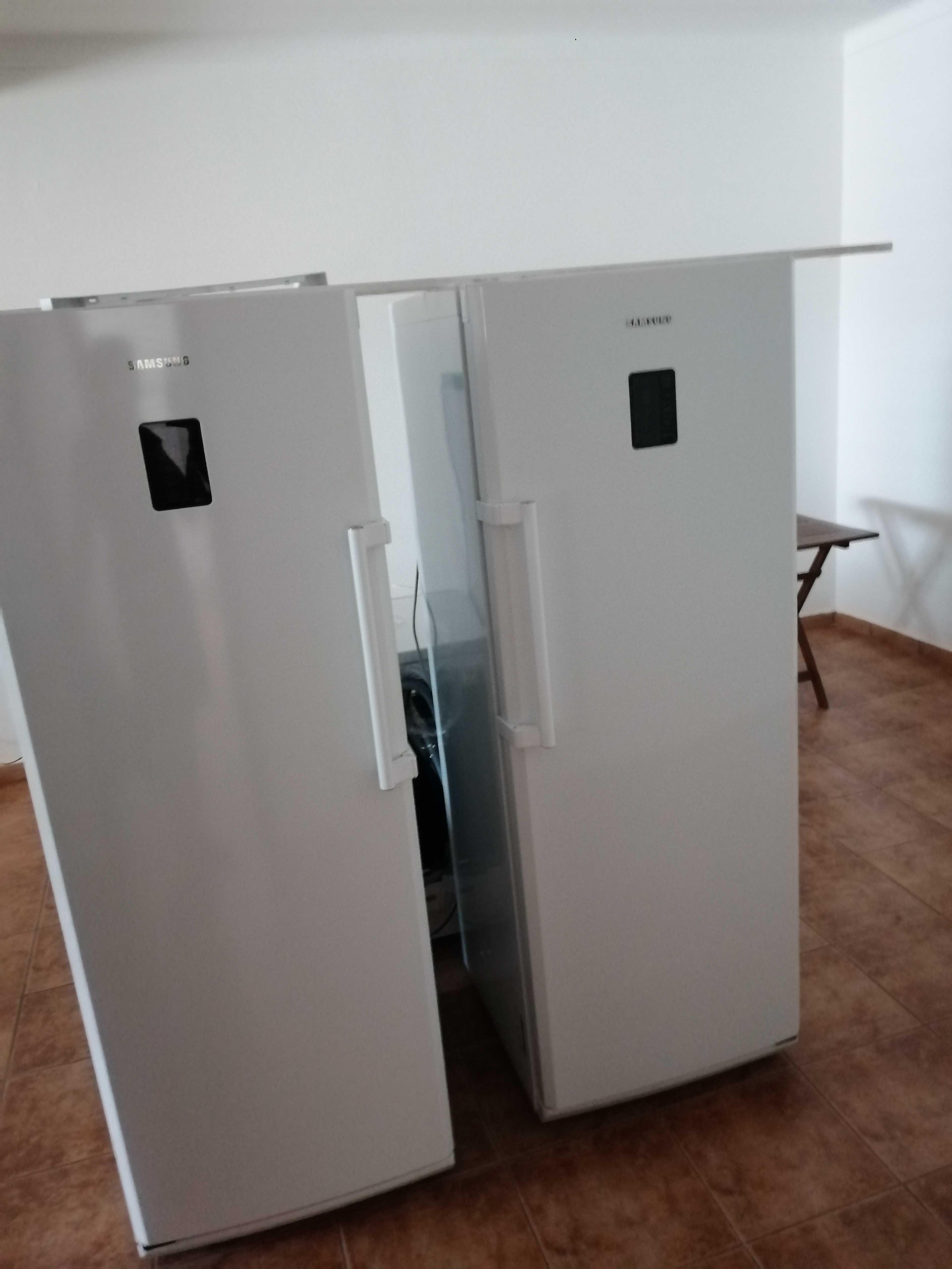 conjunto Frigorifico e arca- sidebyside - Samsung - Semi novos
