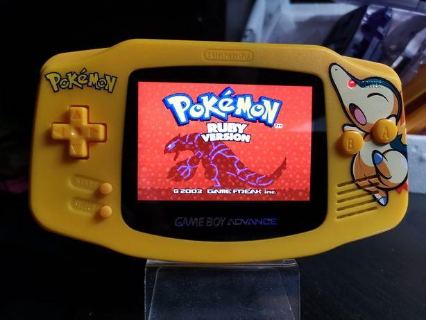 Gameboy Advance IPSv2 Pokemon, GBA, pokrowiec, folie.