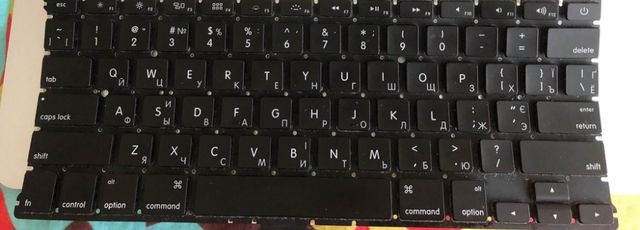 клавиатура для macbook air 2012 года б/у