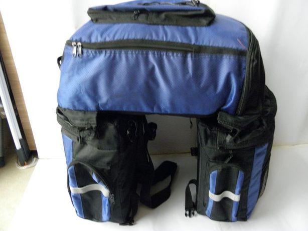 Sakwy torby bagi rowerowe 50x35x55 cm plecak