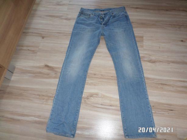 Firmowe spodnie męskie-LEVIS-501-34/36