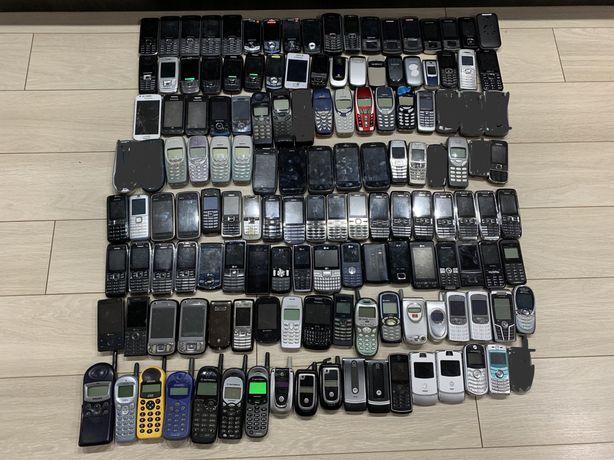duzy zestaw telefonow 134 szt