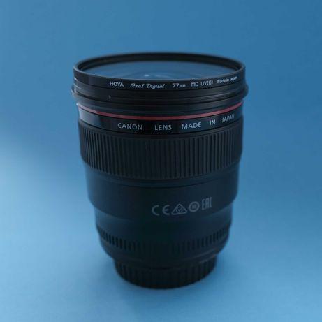 Объектив Canon EF 24mm f/1.4L II + защитный фильтр Hoya Pro Digital