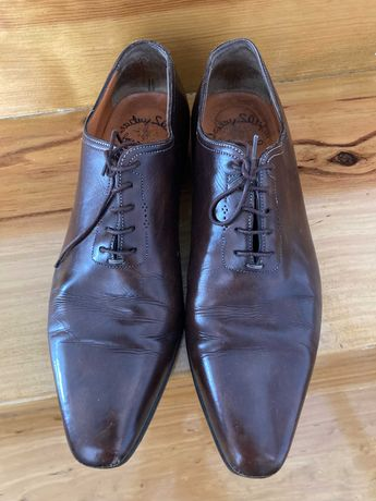 Sapatos da marca Italiana Richelieu Santoni tamanho 41
