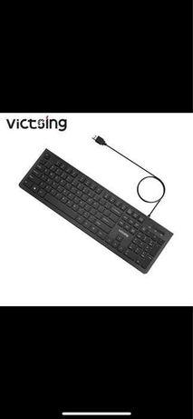 Проводная клавиатура VicTsing, портативная тонкая мембранная