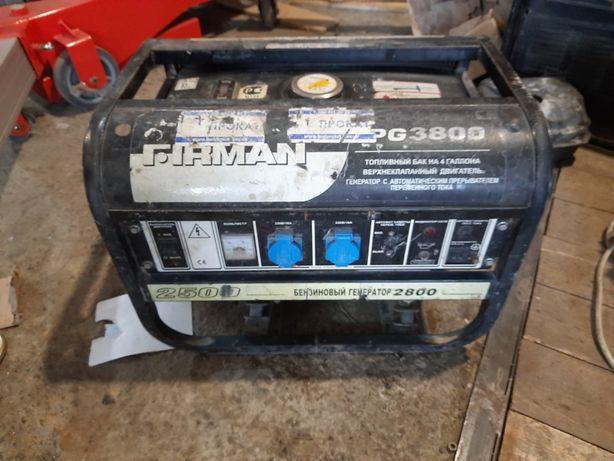 Бензиновый генератор FIRMAN FPG 3800. На запчасти.