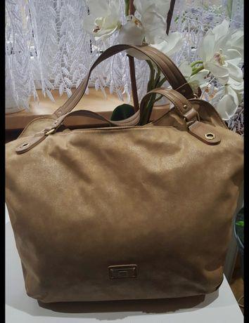 Ekskluzywna pojemna torebka typu shopper prestiżowej marki GEOX