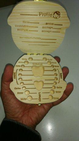Caixa madeira guardar Dentes filhos bebes, Cordão Umbilical